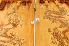Board game a backgammon Royalty Free Stock Photo