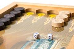 Board game backgammon. Royalty Free Stock Photos