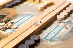 Board game backgammon.