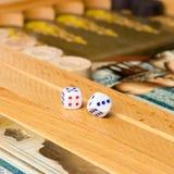 Board game backgammon. Stock Photo