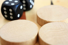 A board game backgammon. Royalty Free Stock Photo