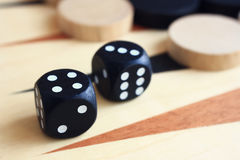 A board game backgammon. Royalty Free Stock Image
