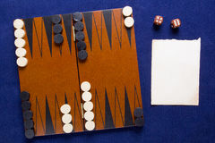 Board game backgammon Royalty Free Stock Photo