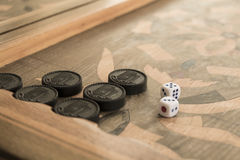 Board for a game of backgammon. Vintage royalty free stock photo