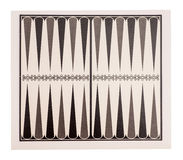 Board for a game of backgammon. On white Royalty Free Stock Photo