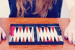 Board game backgammon Stock Photography