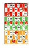 Board game of bingo Royalty Free Stock Photo