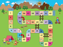 Board game. Game for children: board game mountain royalty free illustration
