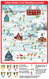 Board game (Collect Santa's lost Christmas presents) Stock Image