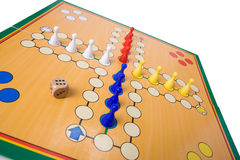 Board game with color pawns Stock Image
