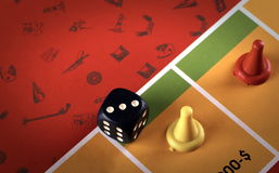 Board game. Colorful shot of a board game Stock Images