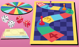 Board Game & Dice Stock Photo