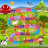 Board game with farm background stock illustration