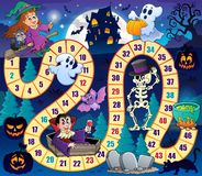 Board game with Halloween theme 1. Eps10 vector illustration Royalty Free Stock Photos