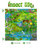 Board game  insect life 3. Vector illustration of board game for children. board game  insect life Royalty Free Stock Photography