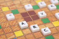 Board game with the letters and numbers Stock Photography