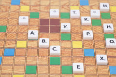 Board game with the letters and numbers Royalty Free Stock Image