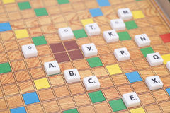 Board game with the letters and numbers Royalty Free Stock Photo