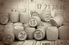 Board game - a lotto. Retro style Royalty Free Stock Photography