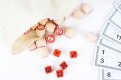 Board game lotto. On white background, lottery Royalty Free Stock Photos