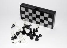 Board game - mini magnetic chess set Royalty Free Stock Image