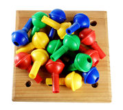 Board Game Pegs Royalty Free Stock Images