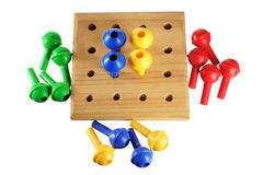 Board Game Pegs Stock Photography
