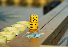 Backgammon. Board game for recreation and entertainment backgammon Royalty Free Stock Images