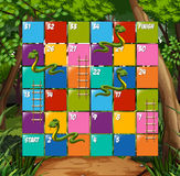 Board game snake and ladder. Illustration royalty free illustration