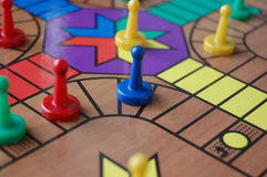 Board Game Sorry. The board game sorry with coloured pieces Royalty Free Stock Photography