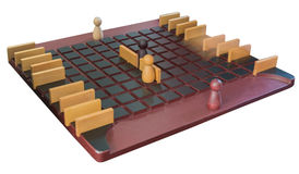 Board game wooden figures Stock Images