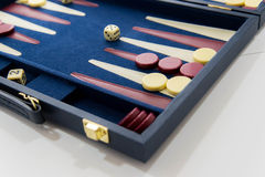 Board games - backgammon in play Stock Image