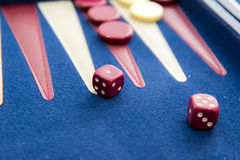 Board games - backgammon in play Stock Images