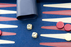 Board games - backgammon in play Royalty Free Stock Photography