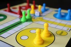 Ludo. Board game. Closeup.