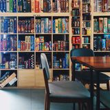 Board games cafe Stock Image