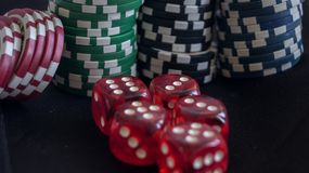 Board games. Cassino board games Royalty Free Stock Images