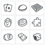 Board games  icon Royalty Free Stock Photography