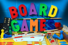 Board Games with Magnetic Letters Royalty Free Stock Image