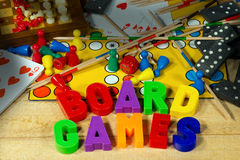 Board Games with Magnetic Letters Stock Images