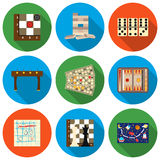 Board games set icons in flat style. Big collection board games vector symbol stock illustration Stock Photos