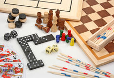 Board games on white Stock Photography
