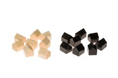 Board gaming pieces Stock Photography