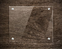 Board glass on wood Royalty Free Stock Photography