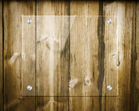 Board glass on wood Royalty Free Stock Images
