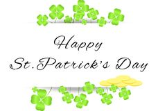 Board with greetings on St. Patrick's Day Stock Photography