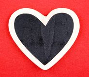 Board in heart shape Royalty Free Stock Photography