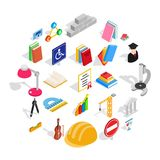 Board icons set, isometric style. Board icons set. Isometric set of 25 board vector icons for web isolated on white background Stock Photography