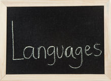 Board with LANGUAGES Royalty Free Stock Image