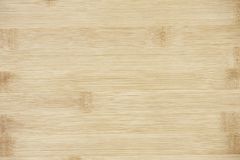 Board made of natural bamboo wood. Textures pattern background in light yellow cream beige brown color. stock image